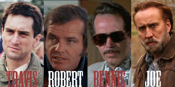 Nicolas Cage Warren Oates Jack Nicholson Robert De Niro