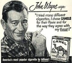 John Wayne Camel cigarette ad