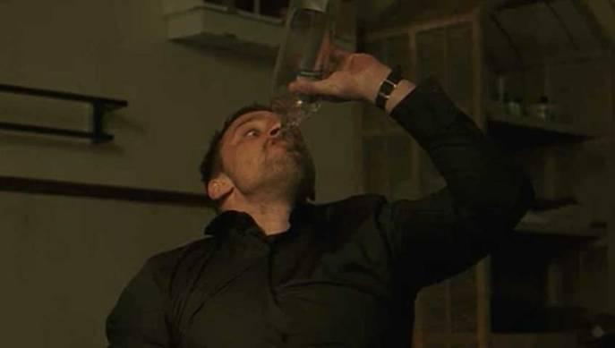 Matthias Schoenaerts in Bullhead drinking vodka