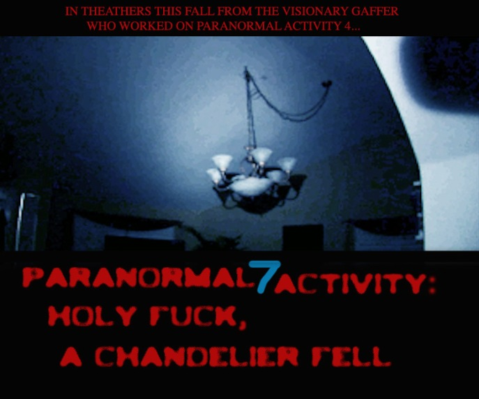 paranormal activity spoof poster