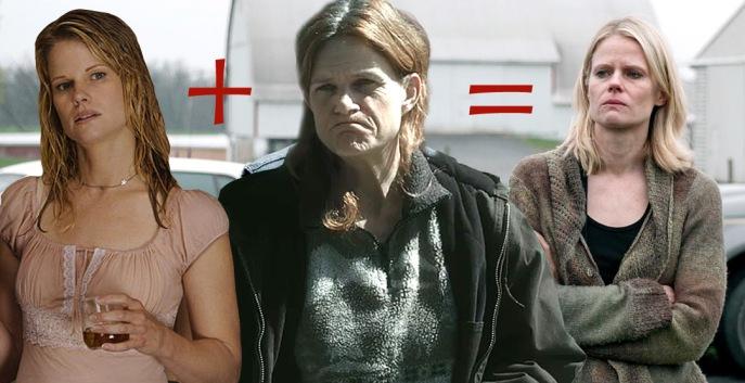 Joelle Carter as Ava and Dale Dickey in Winter's Bone look like Joelle Carter in The Living