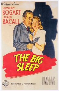 big sleep movie poster with bogart and bacall