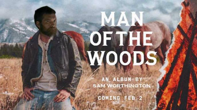 Sam Worthington unabomber fake beard as Justin Timberlake Man of the Woods