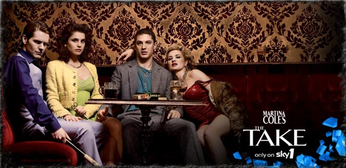 Shaun Evans, Charlotte Riley, Tom Hardy and Kierston Wareing in The Take
