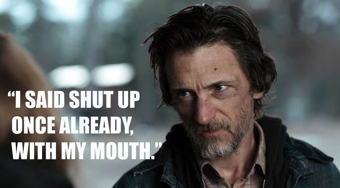 John Hawkes as Teardrop in Winter's Bone